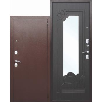 Входная металлическая дверь с зеркалом Ампир Венге