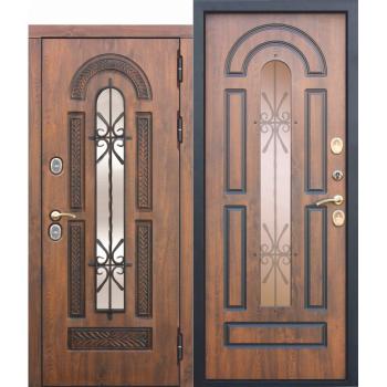 Входная морозостойкая дверь c ТЕРМОРАЗРЫВОМ 13 см VITRA Винорит Патина (Израиль)